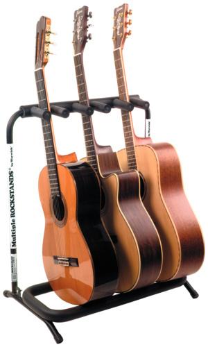 Rockstand guitarstativ til 3 akustiske musikhuset kjeld for Mueble guitarras