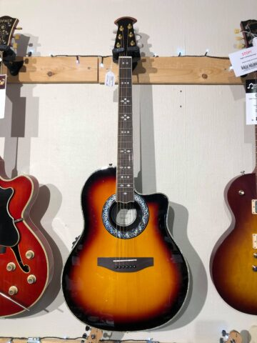 Santana OV-90 CWEQ Sunburst Western Guitar m/Pickup