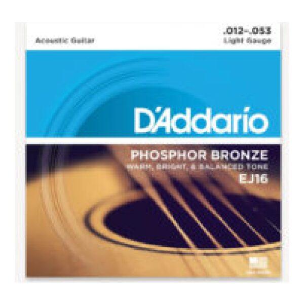 D'addario EJ16 12-53 Phosphor Bronze