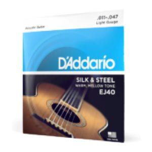 D'addario EJ40 Silk & Steel 11-47