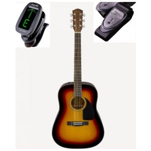 Fender CD60 Western Guitar Pakke